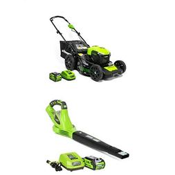 Greenworks 20-Inch 40V 3-in-1 Cordless Lawn Mower  with 40V
