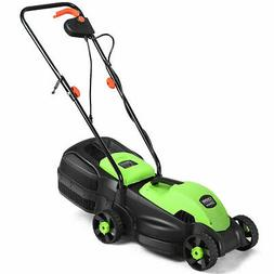 12 Amp 13-Inch Electric Push Lawn Corded Mower With Grass Ba