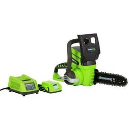 Greenworks 20362 24V Cordless Lithium-Ion Enhanced 10 in. Ch