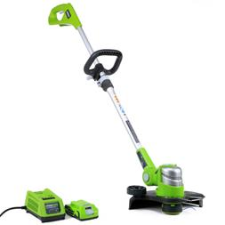 Greenworks 12-Inch 24V Cordless String Trimmer, 2.0 AH Batte