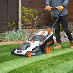 "VonHaus 40V Cordless 16"" Push Lawn Mower with 50L Grass Bag,"