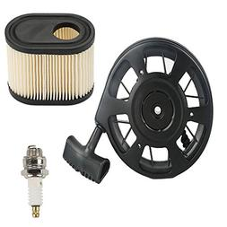 FanzKo 590739 Recoil starter+Air Filter+Spark Plug for toro