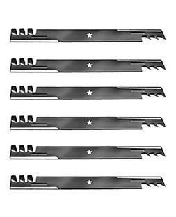 6 Mulching Blades  to replace the 403107, 405380, blade used