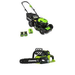Greenworks 21-Inch 40V Brushless Cordless Mower with 16-Inch