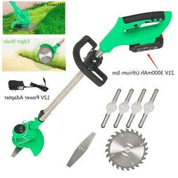 Electric Grass Trimmer Edger Lawn Mower 3000mAh Cordless Wee