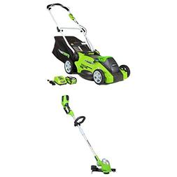 GreenWorks 16-Inch 40V Cordless Lawn Mower + 13-Inch Cordles