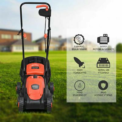 Push Mower With Grass Bag