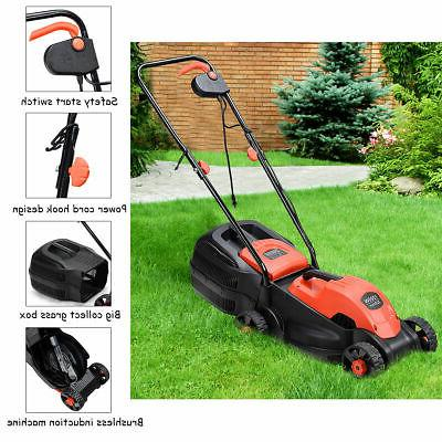 12 14-Inch Push Lawn With Grass