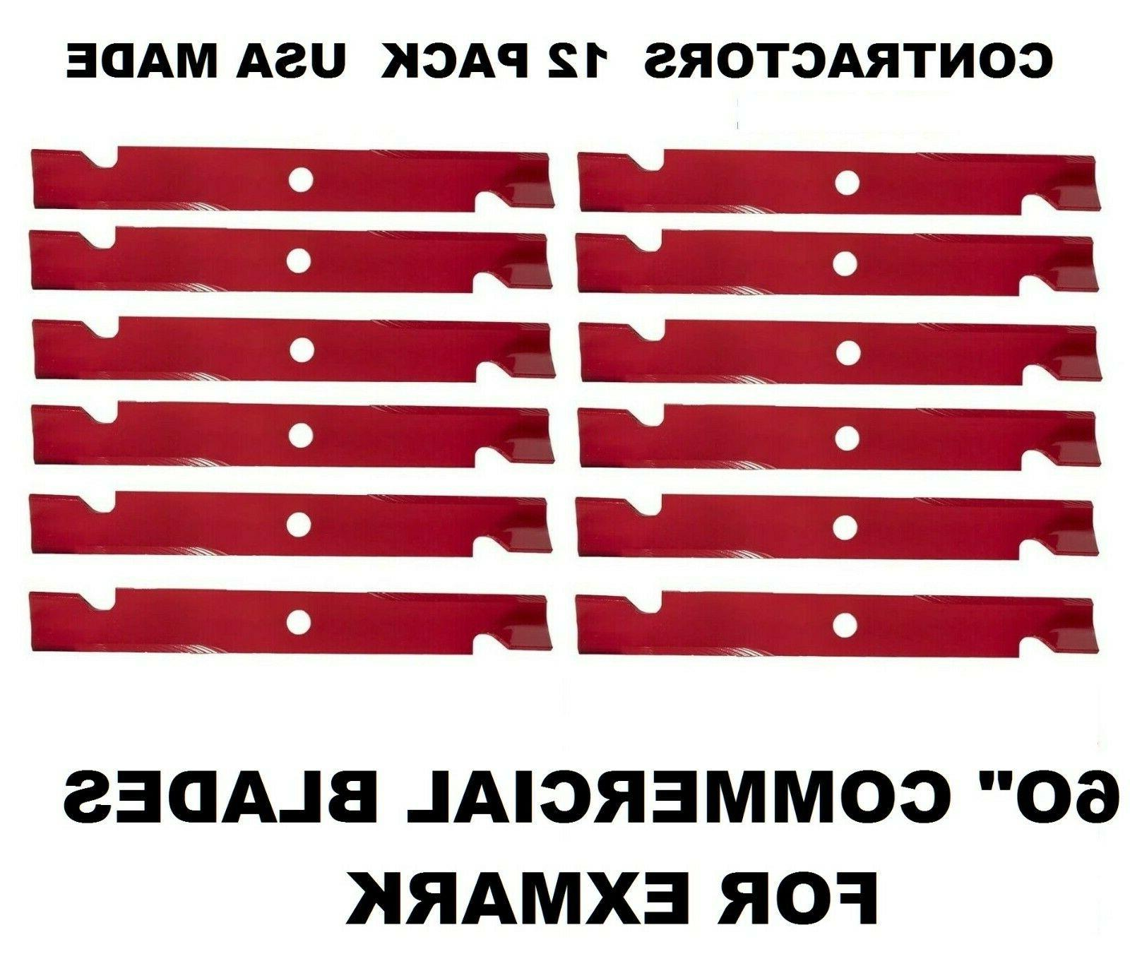 """12 EXMARK REPL COMMERCIAL MOWER BLADES 60"""" CUT 103-6383 103-"""