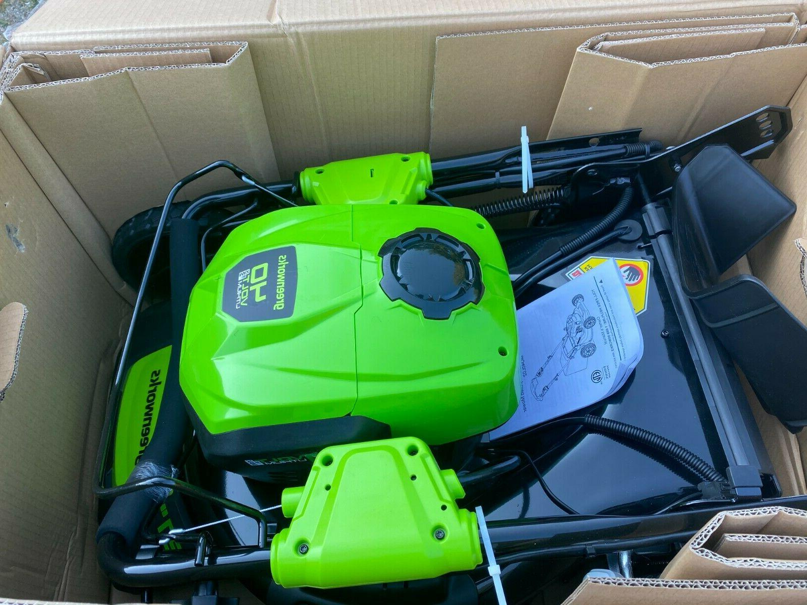 21 inch 40v self propelled cordless lawn