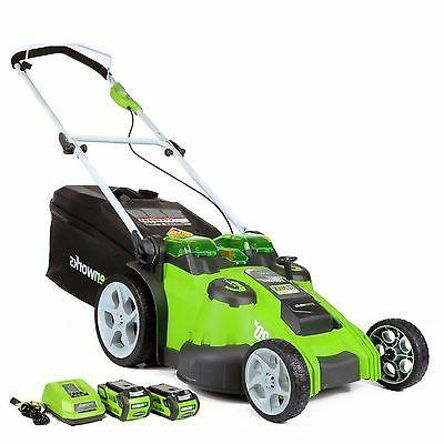 Greenworks 40V G-MAX Cordless Lithium-Ion in. 2-in-1 Twin Force