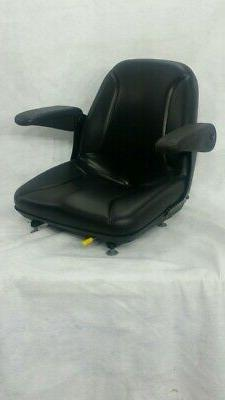 BLACK SEAT W/ ARM RESTS FOR ZERO TURN MOWERS, RIDING MOWERS,