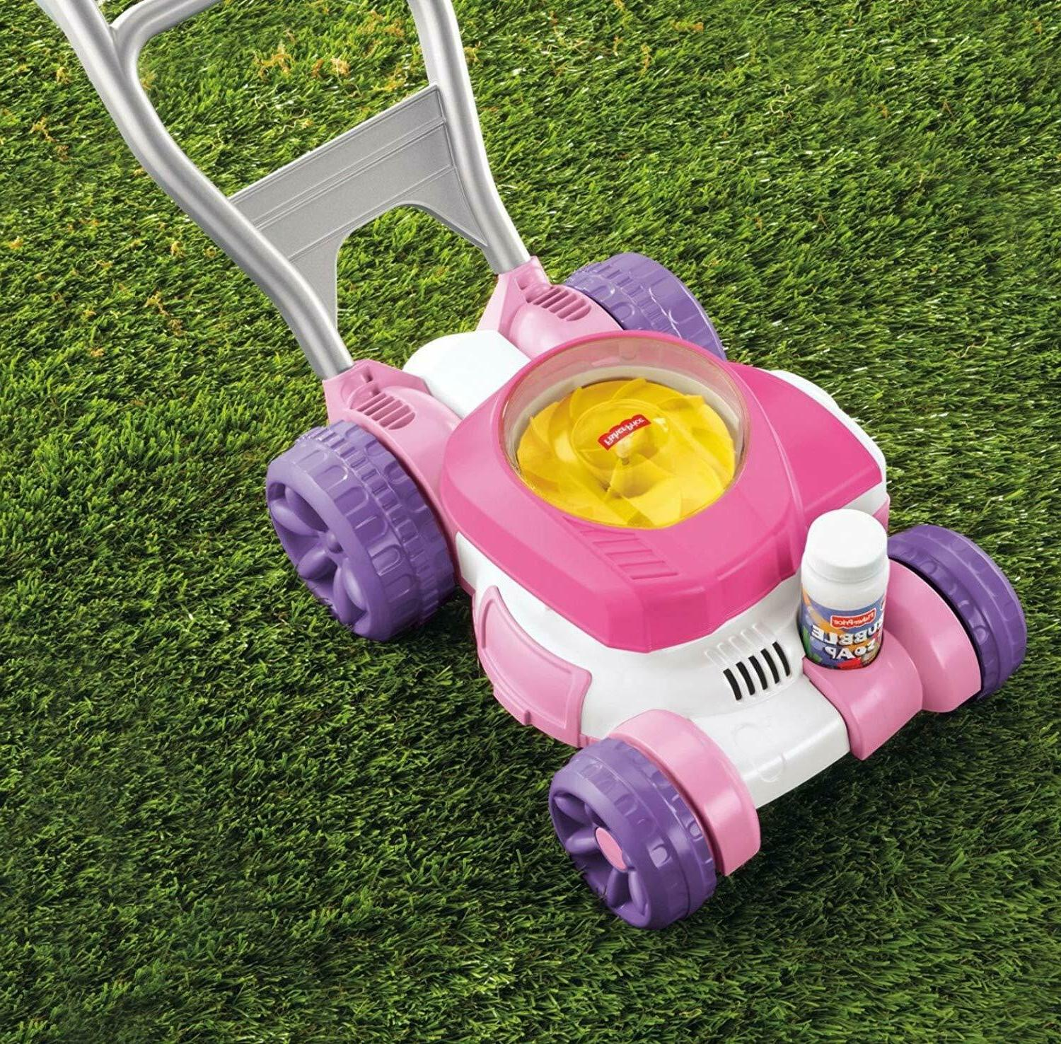 fisher price bubble push lawn mower outdoors