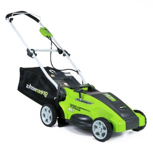 GreenWorks 16 in. 2-in-1 Electric Lawn Mower