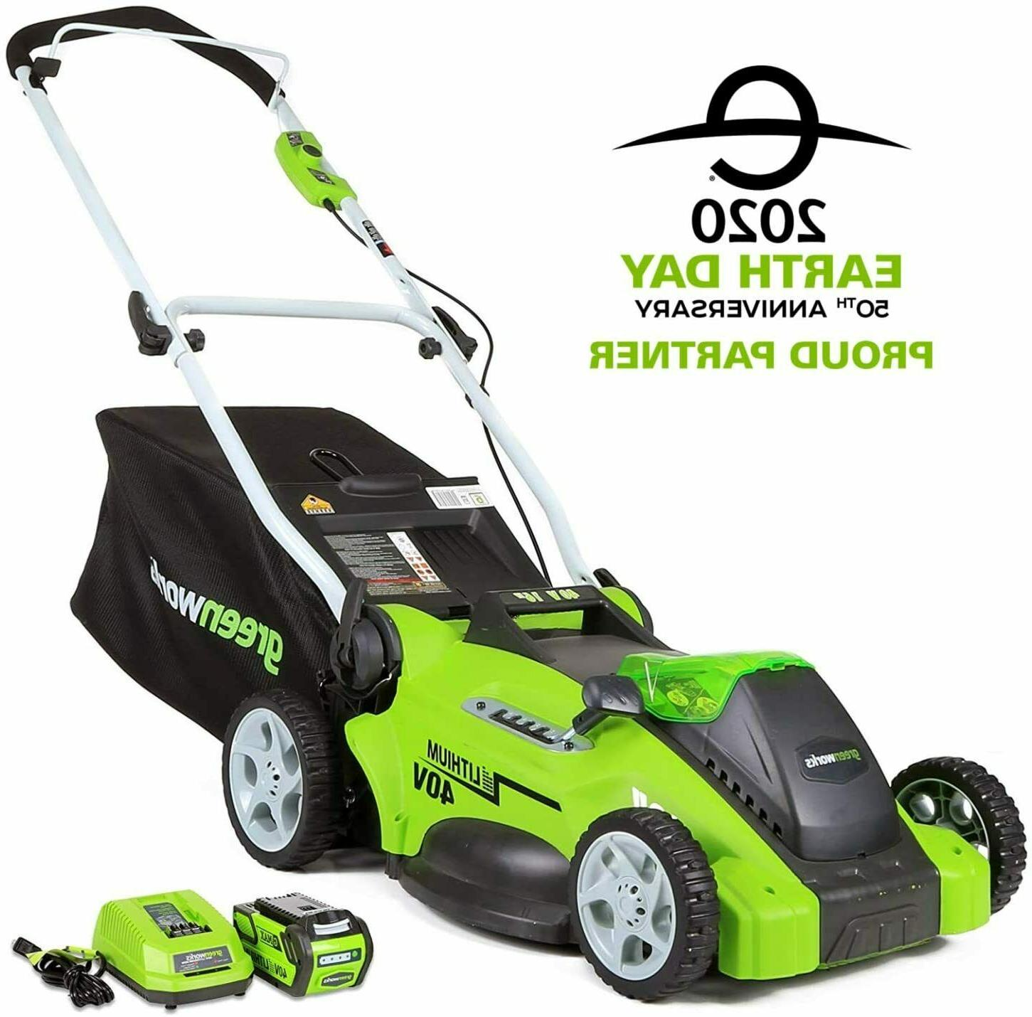 NEW Greenworks 16-Inch Cordless Lawn AH Battery