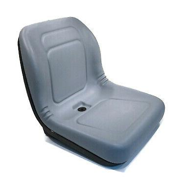 new grey high back seat for john