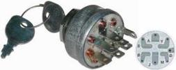 N2 263-5064 Lawn Tractor Ignition Switch & Key with 7 Termin