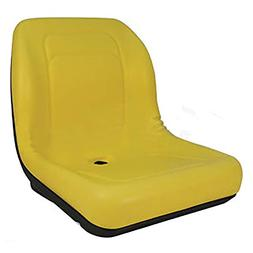 RAPartsinc LVA10029 One New Yellow, High-Back Tractor Seat M