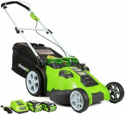 NEW G-MAX 40V 20 in. Cordless Twin Force Lawn Mower with 4Ah