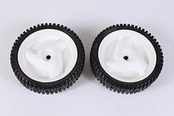 Set of 2 Husqvarna OEM Lawn Mower Front Wheel Tire 532403111