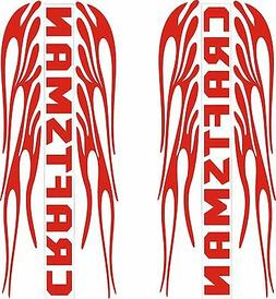 ON SALE PAIR OF CRAFTSMAN FLAMING  DECALS RED 1L & 1R    3 3