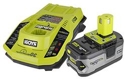 Ryobi P108 One+ 18V 4.0AH Lithium Ion Battery and P117 One+
