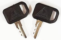 Pair  Keyman John Deere Gator Key-Ignition key for Bobcat, J