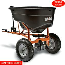 Pull Behind Tow Spreader Mower Tractor Seed Fertilizer Hitch