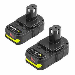 Replace for Ryobi 18v Battery P102 2500mAh Lithium Ion One P