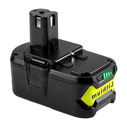 Powilling 5000mAh Ryobi 18V Lithium Battery Replacement for