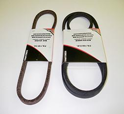 Set of 2, OEM Duplicate Belts Replaces Both Variable Speed B