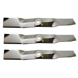 Three  Pack Rotary Lawn Mower Blades Replace John Deere M127