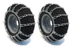 The ROP Shop Pair 2 Link TIRE Chains 26x12-12 for Kubota Law