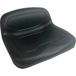 Milsco TS3300 Formed Vinyl 1-Piece Lawn Mower Seat — Black