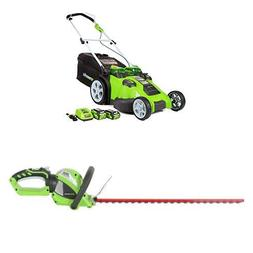 Greenworks 20-Inch 40V Twin Force Cordless Lawn Mower with 2