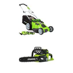Greenworks 20-Inch 40V Twin Force Cordless Lawn Mower with 1
