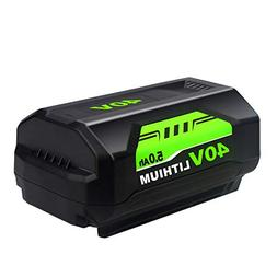 40V 5.0Ah Lithium Ion Replacement for Ryobi 40V Battery OP4