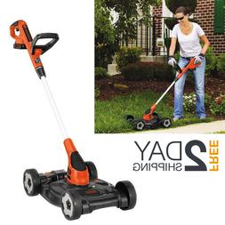 Walk Behind String Trimmer Lawn Mower Edger Cordless Combo W