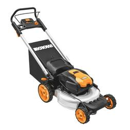 "WORX WG774 56V 20"" Cordless Electric Lawn Mower with Intelli"