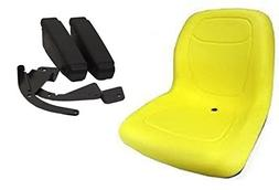 The ROP Shop Yellow HIGH Back SEAT w ARM Rest John Deere Law
